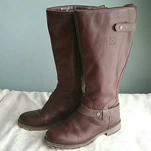 Naturalizer Tanita Leather Wide Calf Boots